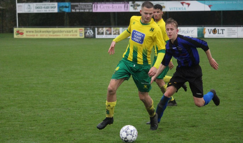 Rijnmond Hoogvliet Sport speelt gelijk in Vierpolders.