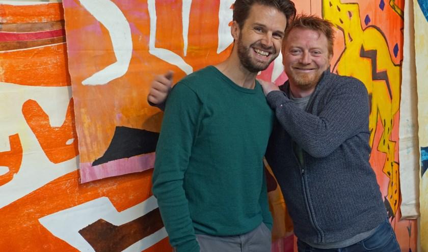 v.l.n.r. De creatief managers  Mark van Dooren en Henk Jan Letteboer gaan er voor. (foto Jan Woldberg )