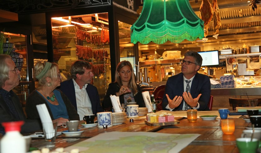 Rondetafelgesprek over energietransitie met inwoners, ondernemers en vertegenwoordigers van organisaties.