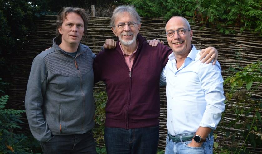 De Theatermakers, Jacques Vriens, Bas Leenders en Casper Vriens.