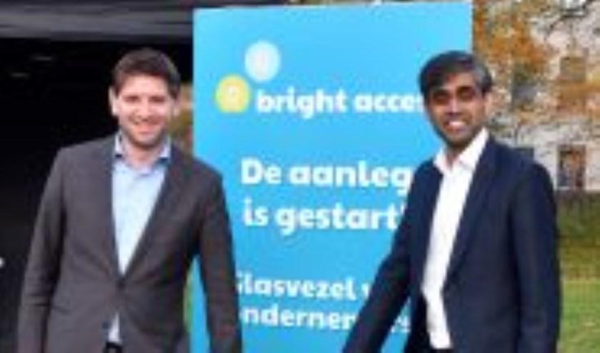 Jan Paternotte (D66) Janarthanan Sundaram (directeur Bright Access)
