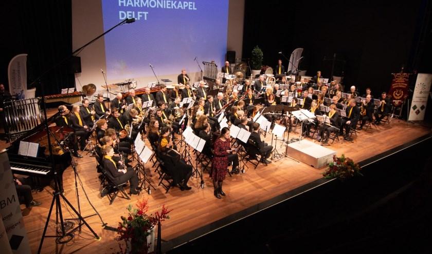 Harmoniekapel voor aanvang concert