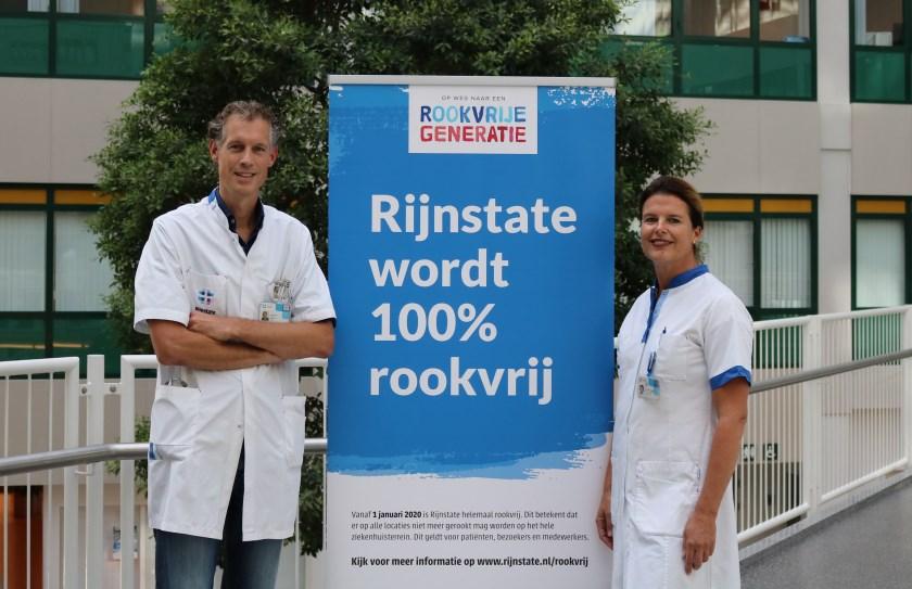 Medewerkers van Rijnstate hebben een voorbeeldfunctie. Daarom geldt het rookverbod voor medewerkers al per 1 oktober 2019.