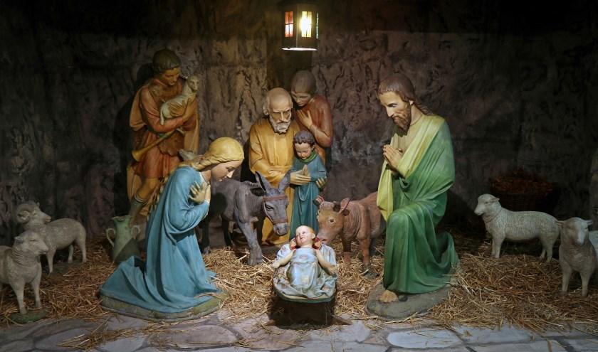 de kerstbeelden zijn klaargezet