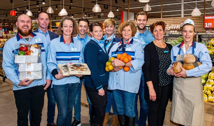 Het team van Albert Heijn Brouwhuis is klaar voor de verbouwing en de heropening.