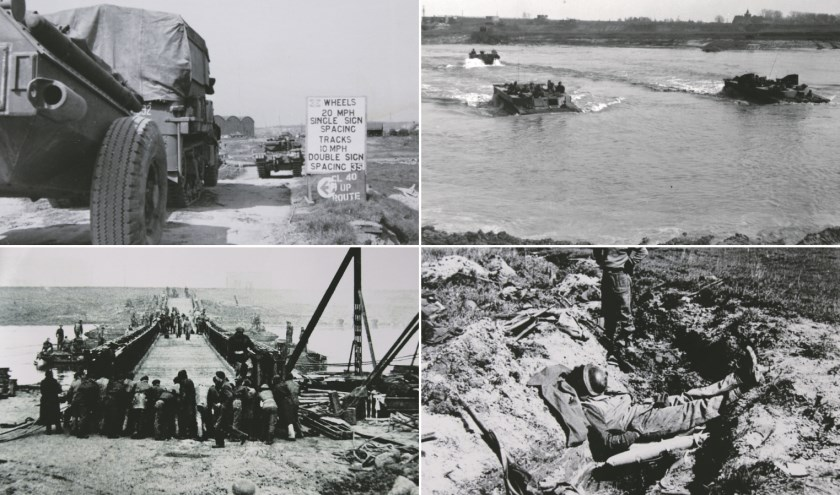 Collage van foto's uit de Tweede Wereldoorlog uit het omvangrijke archief van onze fotograaf Piet Wijnands.