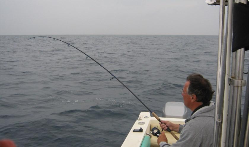Sjors tijdens een uitje van zijn 'viscluppie'.