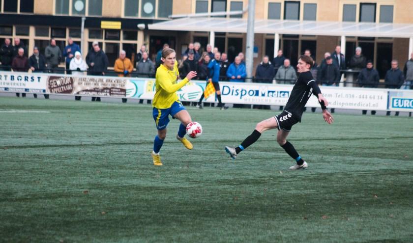 Sv Hatto-Heim wint de zwaarbevochten wedstrijd tegen ESC met 1-0. Foto: Gradus Dijkman