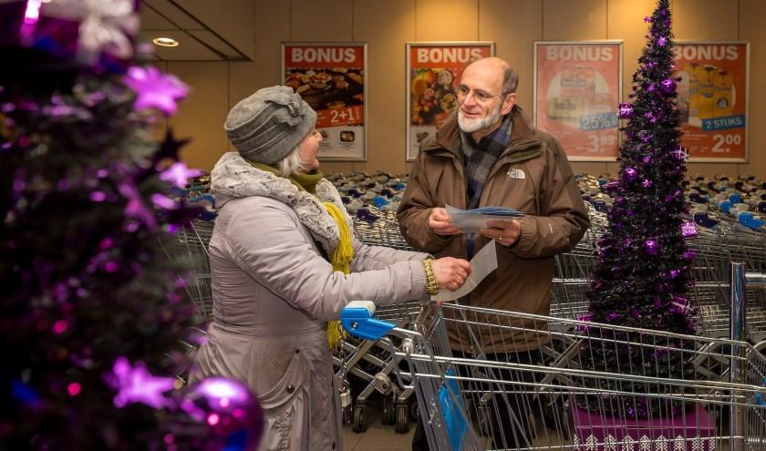 Naast de 'vaste' supermarkten waar elk jaar ingezameld wordt, zijn er dit jaartweesupermarkten bijgekomen. (foto: Peter van der Lingen)