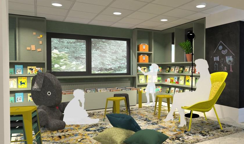 Ontwerp van de nieuwe jeugdafdeling van Bibliotheek Muntweg