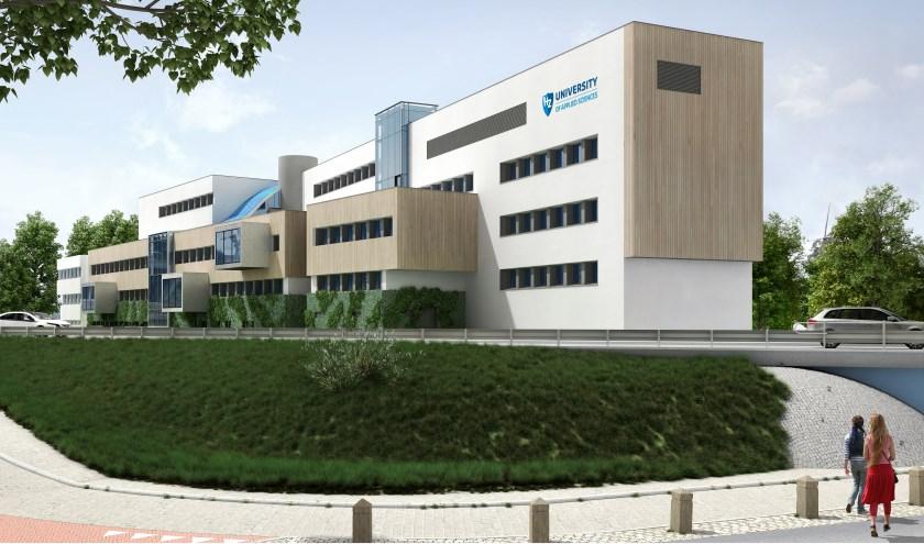 Het nieuwe gebouw van HZ zoals het in september 2018 wordt geopend Foto:Conix RDBM Architects