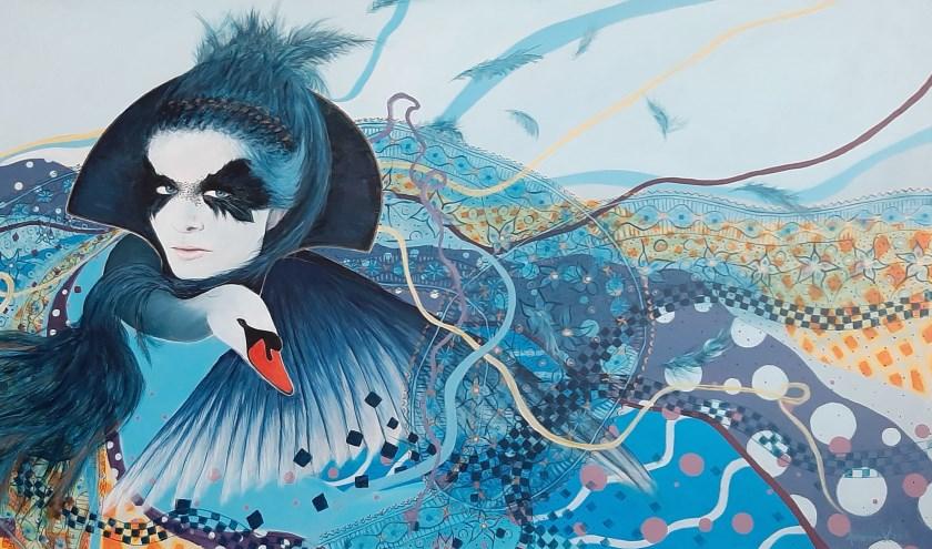 Annemiek Visser, een kunstenaar in hart en nieren met een diverse stijldie je kleurrijk kunt noemen en altijd verrassend.