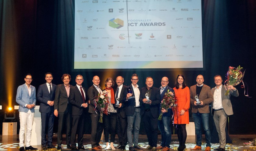Alle genomineerden voor de Foodvalley ICT Awards 2019. (Foto: Annemarie Bakker Fotografie)