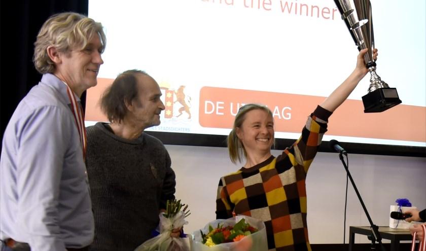 Marjolein Pieks wint Groot Gouds stadsdichtersgala. Foto: Marianka Peters