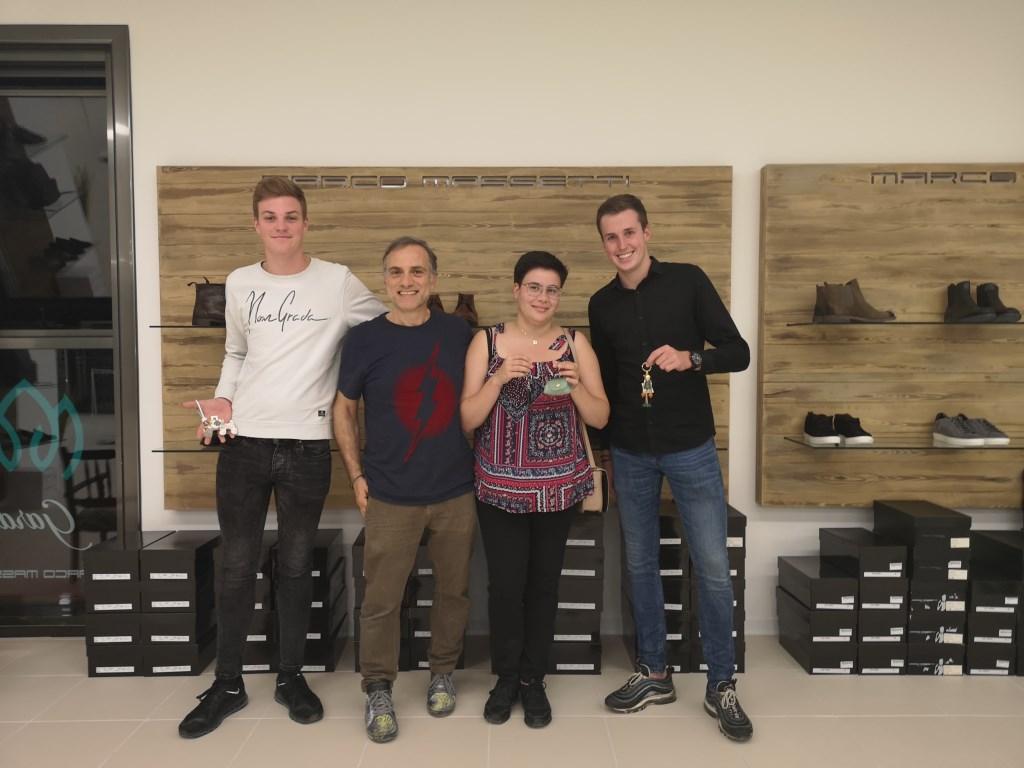De sleutelhangers van Marco Massetti, ontwerper en ROC stage-opleider in Italië Foto: ROC van Twente © DPG Media
