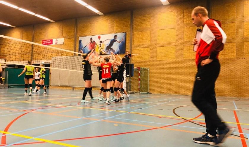 Het team is blij dat ze een puntje van koploper Veracles uit Groningen hebben gepakt. (Eigen foto)