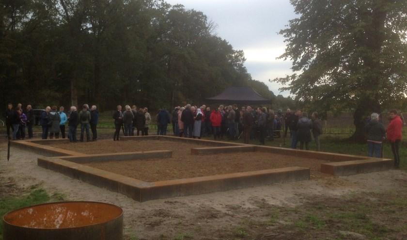 Opening Voorbijgangerserf op 19 oktober. (Foto: Herman Reimerink)