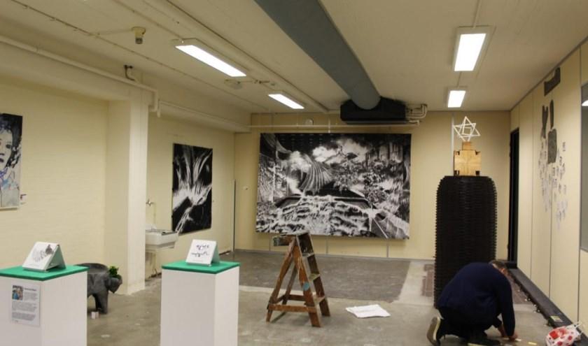 Foto van gebouw H40 tijdens het open atelierweekend (foto: Ilse Schoneveld)