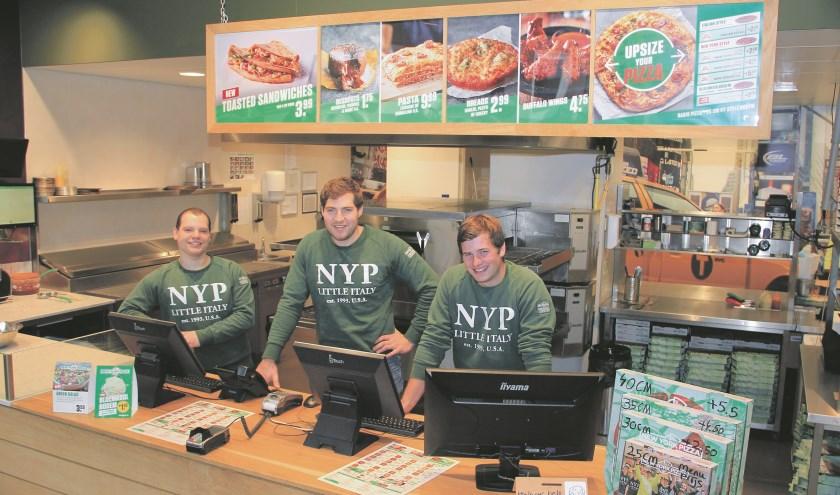 Didier Orij (midden) en zijn collega's Patrick Ubbing (links) en Noah Vestering (rechts). (foto: PR)