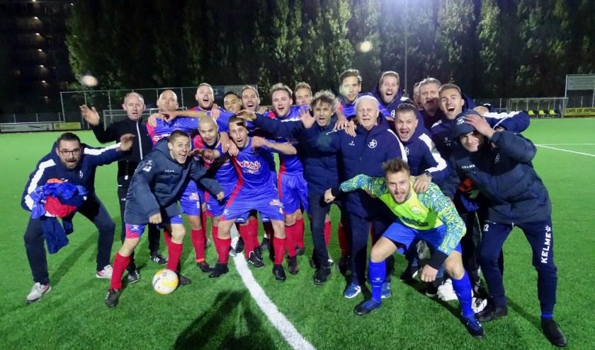 Hoewel het al als periodekampioen aan de derby tegen VFC begon, vierde Cion na de 0-0 toch uitbundig zijn feestje. (foto: DPG/gsv)