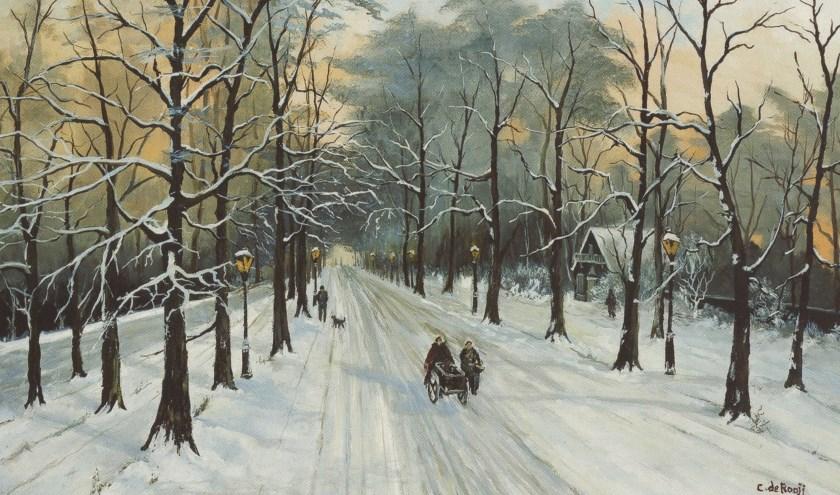 Winter in het bos.