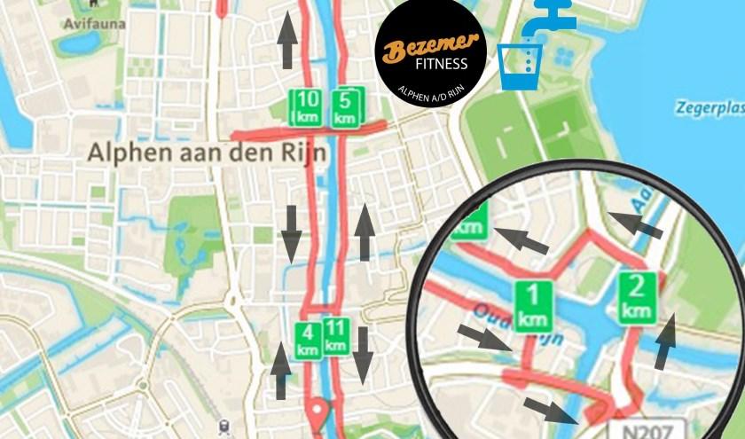 Route van de Bruggenrun.