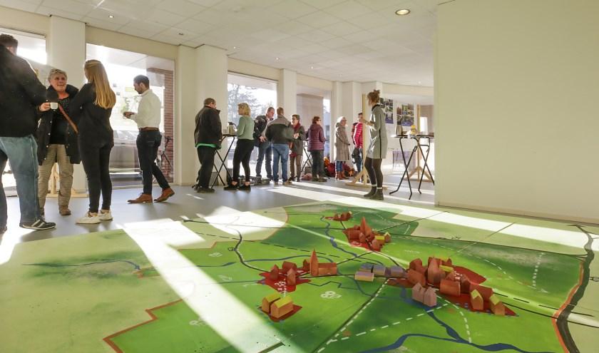 Onder meer in het pop-up kantoor in Leende konden inwoners ideeën inbrengen voor de nieuwe omgevingsvisie. Foto: Jurgen van Hoof
