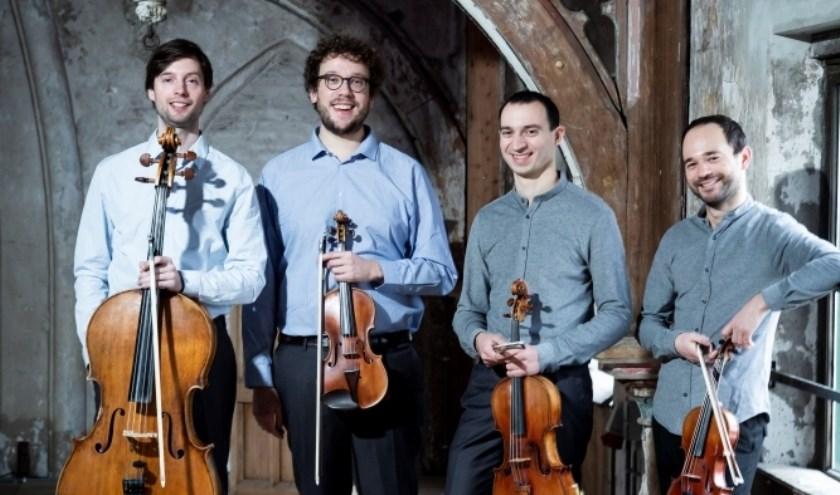Het Aristos Strijkkwartet speelt 12 december in Strijen. (foto: pr)