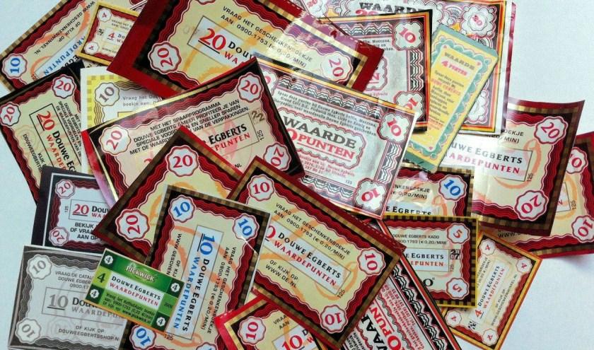 500 waardepunten zijn goed voor 1 pak koffie van de Voedselbank.