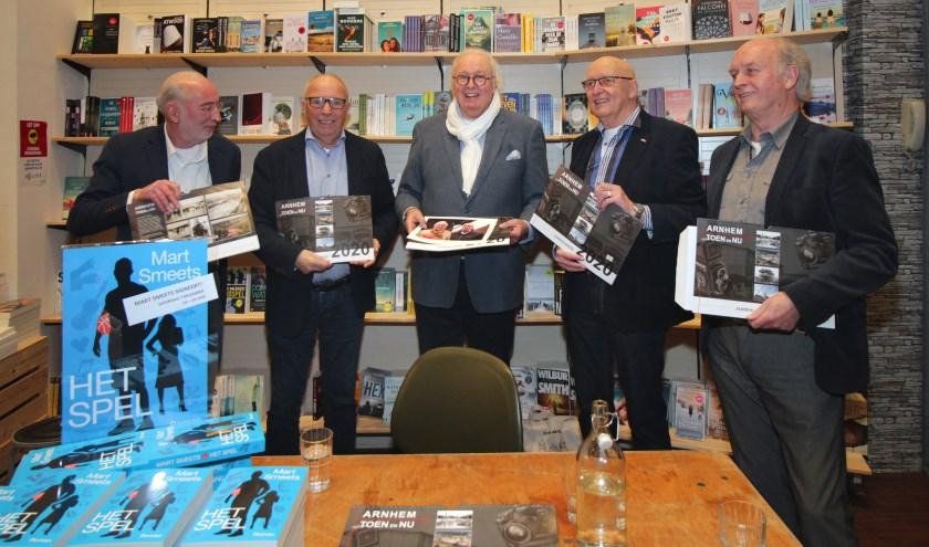 v.l.n.r. Rob van der Berg, Gerrit Dassen, Mart Smeets, Gerth van Roden, Will Plooster