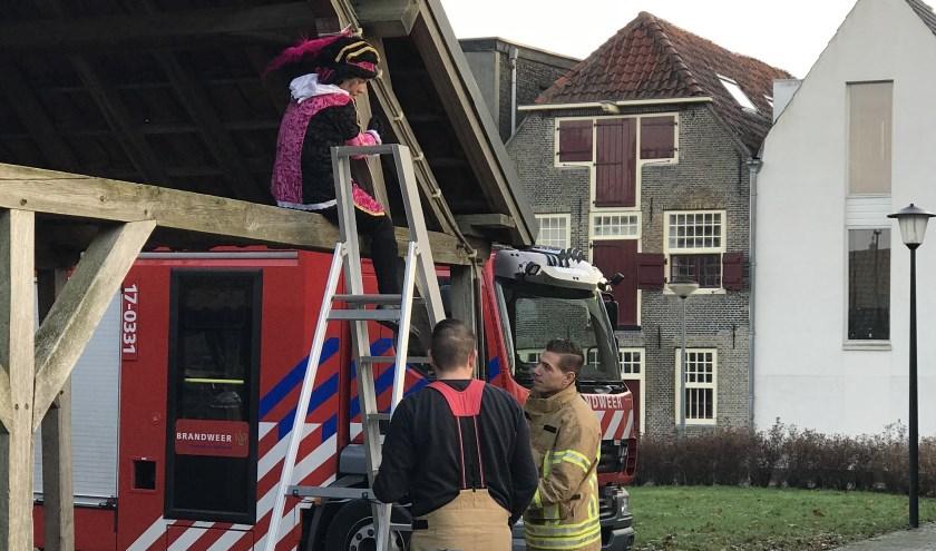 Brandweer redt Piet van Lijnbaan