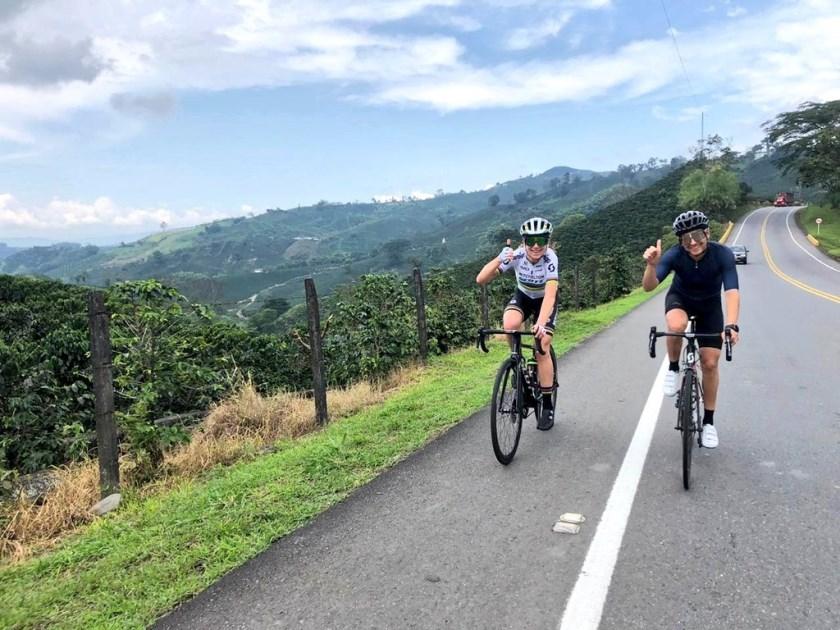 Annemiek van Vleuten is genomineerd voor Sportvrouw van het Jaar. De Wageningse verblijft momenteel voor een hoogtestage in Colombia (zie foto).