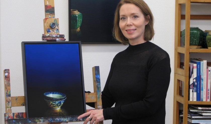Het schilderij waarmee Debora Makkus een Award won in Taiwan