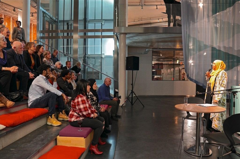 Opening Nieuwe Vlaardingers in Museum Vlaardingen, Sahra Muse. Foto: Paul Meijer © DPG Media