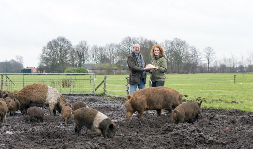 André Brouwer (bestuurslid Slow Food Achterhoek) en Inge Vleemingh