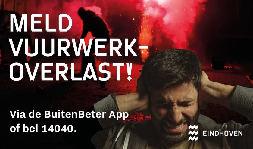 Melden van vuurwerkoverlast kan eenvoudig van 9 december tot en met 1 januari via de BuitenBeter app of telefonisch via 14040 (op werkdagen van 9.00 tot 17.00 uur).