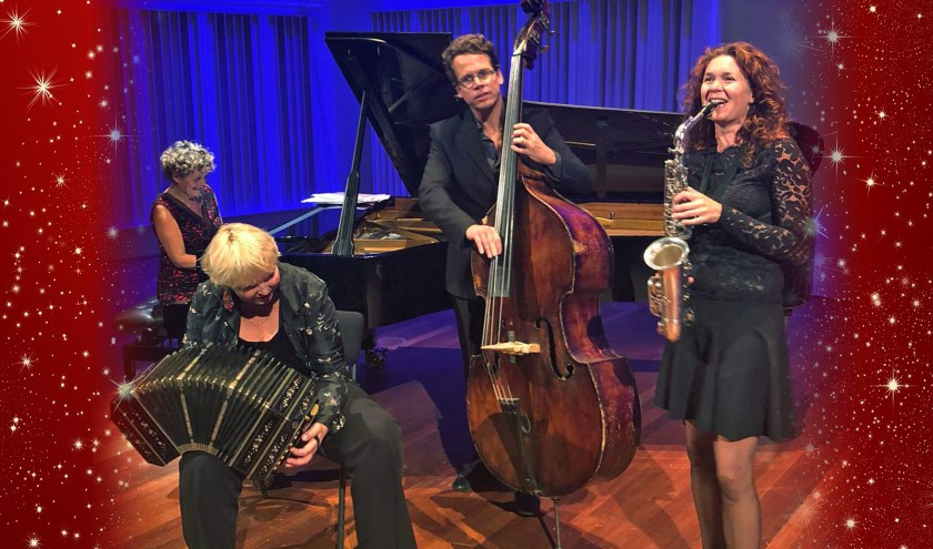 Het bekende Trio Tangata speelt.