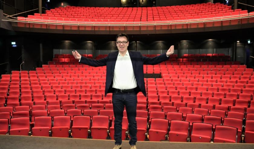 1,5 meter afstand in het Stadstheater dat vergt veel denkt directeur Hilko Folkeringa. Foto: Fred Roland