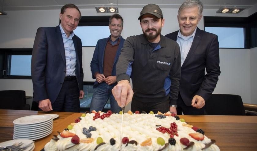Statushouder gaat werken bij Ponsioen Installatietechniek in Alphen. Foto: Hans Hordijk