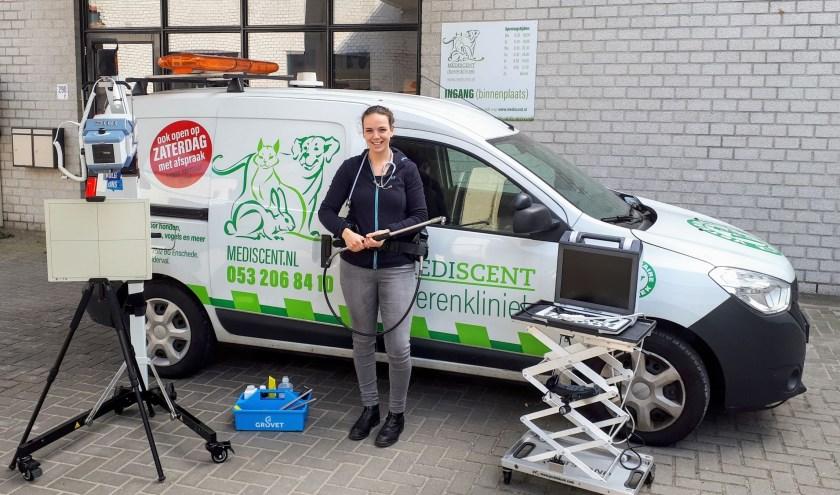 Jessy Bolscher is sinds kort bij Mediscent veterinair kliniek in Enschede actief als paardenarts. Foto: Zoetis