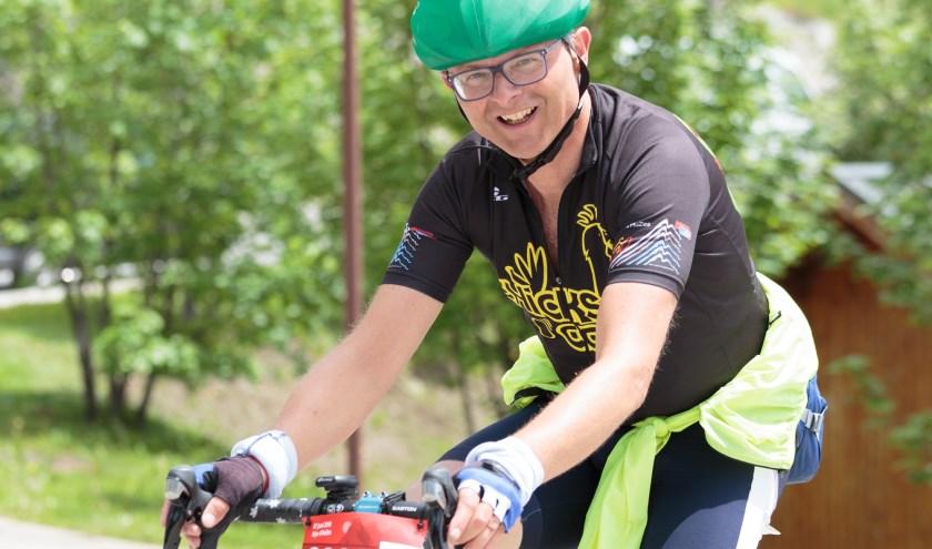 Ruud van Wee tijdens Alpe d'HuZes afgelopen jaar