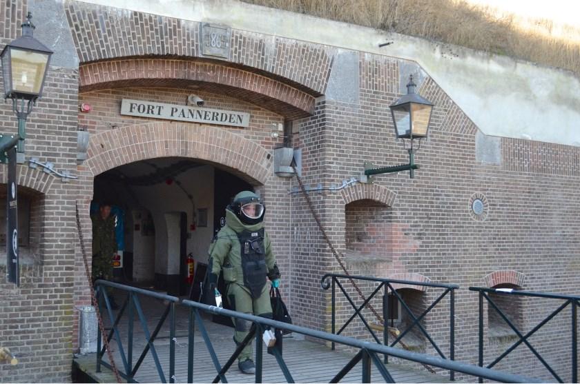 Ontruimingsoefening bommelding op Fort Pannerden.