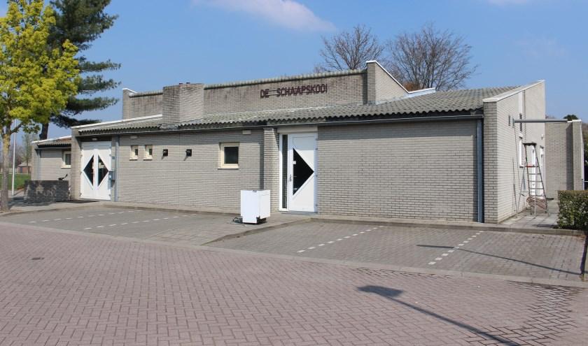 De huidige locatie van gemeenschapshuis De Schaapskooi aan 't Lange in Gastel.