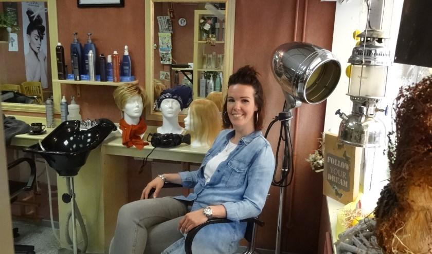 De droom van Marleen Oomen kwam uit; zij is die zorgverlener in een creatief beroep. foto: Jetty Duister