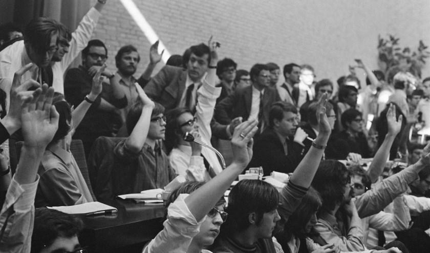 Tilburg stond op 28 april 1969 aan de wieg van een massale opstand in universitair Nederland. foto: Bert Verhoeff
