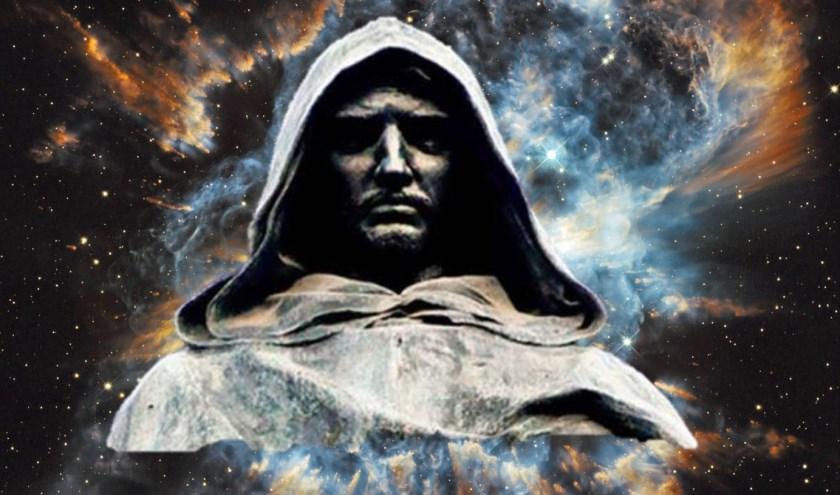 Giordano Bruno brak met de oude visie dat de aarde centraal stond in het heelal