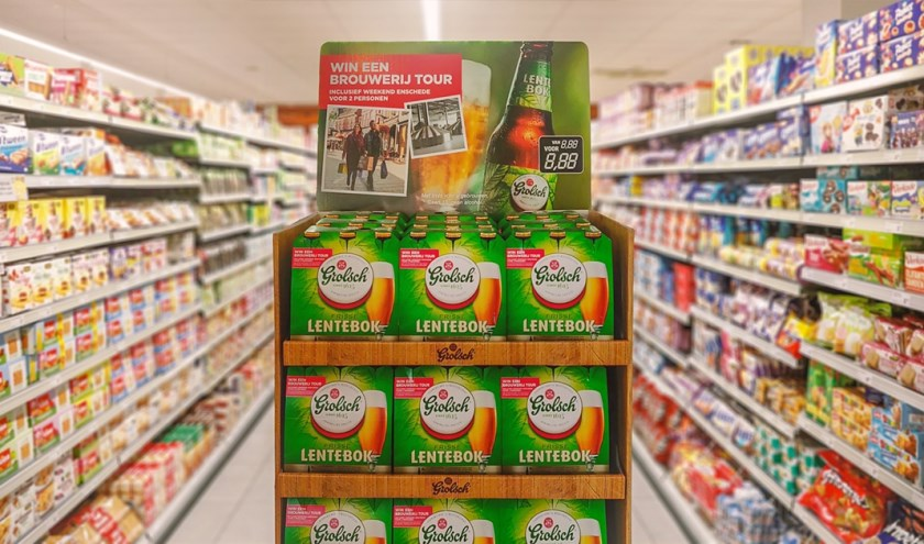 Sinds deze weekliggen er ruim 250.000 verpakkingen van Grolsch Lentebok in de supermarkt.