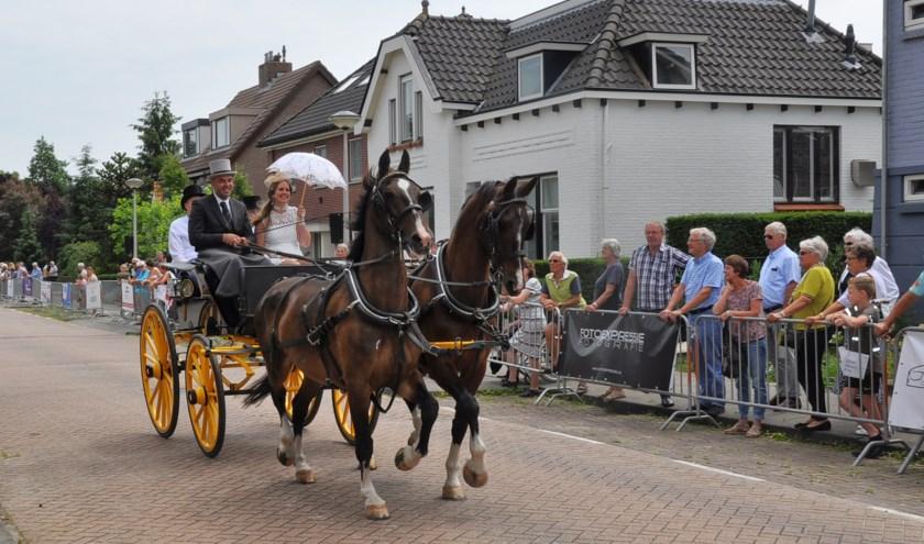In de ochtend zullen de rijtuigen een toertocht maken door het dorp. (FOTO: Arie Verhoeven)