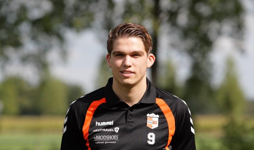 Tijs Blokhorst werd wederom clubtopscorer met vijftien doelpunten, maar had er vandaag sowieso eentje moeten bijmaken. Eigen foto.
