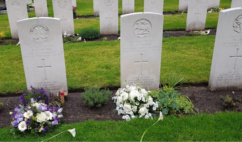 Enkele graven die reeds geadopteerd zijn. Deze jonge militairen verdienen onze dankbaarheid.